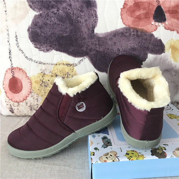 Fashion Keeping Warm Waterproof Slip on Lightweight Women Snow Boots Shoes Women Ankle Boots Winter Flat 35 49 Plus Size Shoe - efair Best spare parts online shopping website