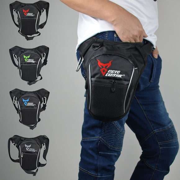 Fashion Motorcycle Drop Leg Bag Hip Bum Fanny Pack Waterproof Motorcycle Bag Outdoor Casual Waist Bag Motorcycle bike Bag Black - efair.co