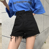 Fashion Womens Denim Shorts Sexy High Waist Loose Tassel Ripped Jeans 2019 Summer Casual Frayed Shorts Plus Size - efair Best spare parts online shopping website