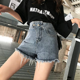 Fashion Womens Denim Shorts Sexy High Waist Loose Tassel Ripped Jeans 2019 Summer Casual Frayed Shorts Plus Size - efair.co