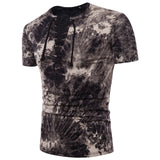 Fashionable Men's T-shirts with Fashionable Colors, Large Body, Ribbon and V-Collar Design, Short-sleeved Men's T-shirts DX17 - efair Best spare parts online shopping website
