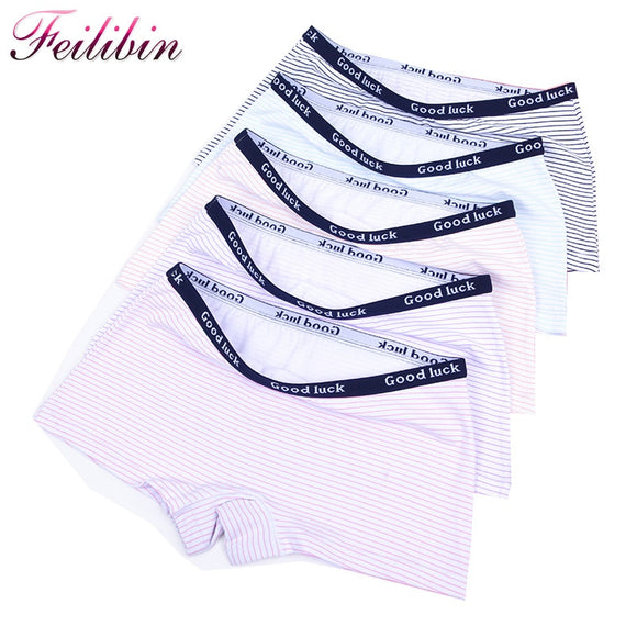 Feilibin 5Pcs/lot Cotton Panties Women's Boyshort New Female Breathable Pants Ladies Underwear Girls Underpant Fat Boxer Shorts - efair.co