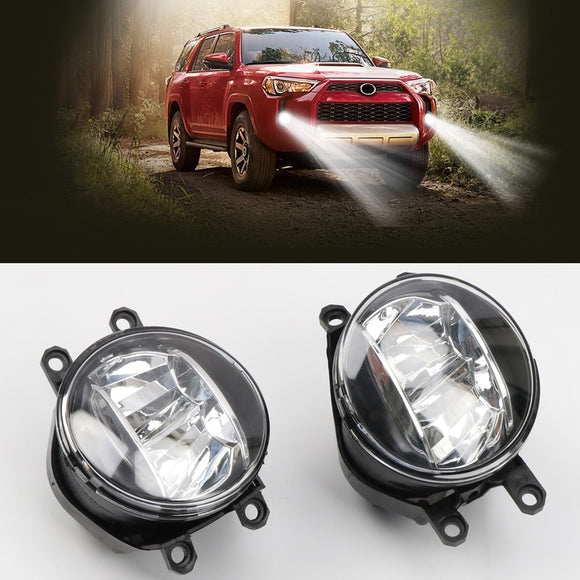 For Toyota 4Runner 2014- 2019 Car Accessories Front Fog Lights Refit LED Auto Parts Replacements Kit Set