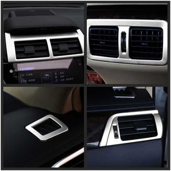For Toyota Camry 2015 6pcs/set Matte Chrome Car Interior Air Condition AC Vents Cover Trim Molding Decoration Auto Parts - efair Best spare parts online shopping website
