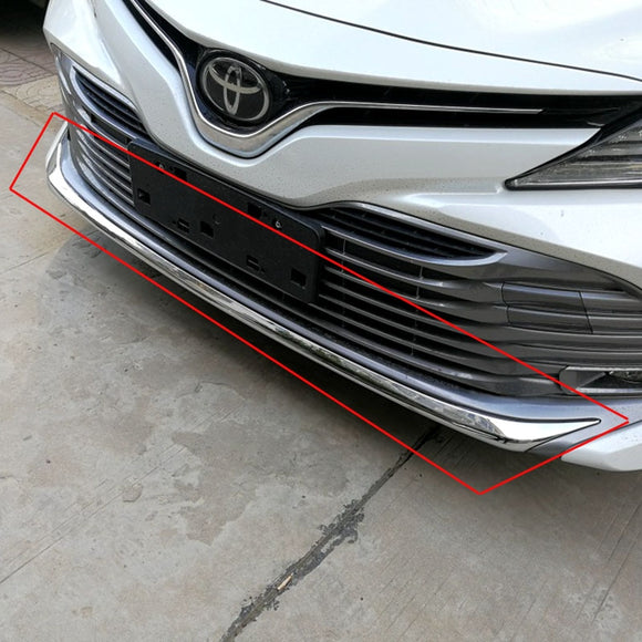 For Toyota Camry 2018 2019 Front Lower Bumper Grille Bottom Cover Auto Parts ABS Chrome Protector Strip Car Styling 1Pcs - efair Best spare parts online shopping website