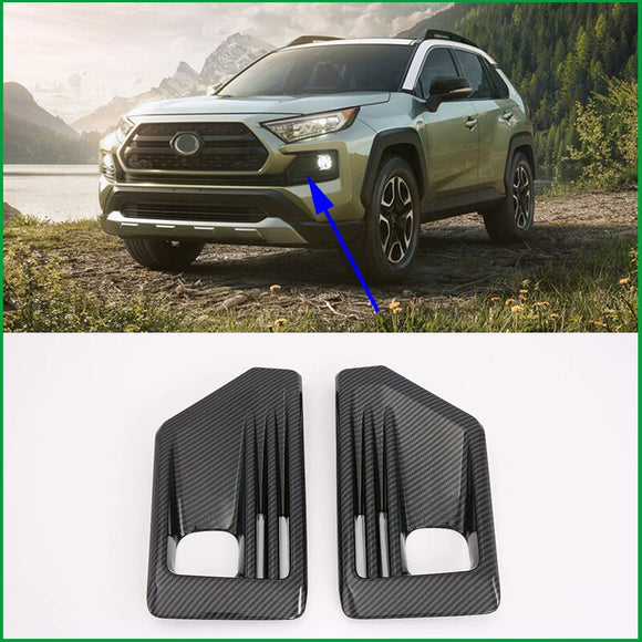For Toyota RAV 4 RAV4 Adventure 2019 2020 ABS Front Bumper Fog Lamp light Frame Cover Sticker Trim Car Styling Auto Parts - efair Best spare parts online shopping website