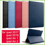 For iPad Air 2 Air 1 Case New iPad 2017 2018 9.7 inch Simplicity PU Leather Smart Cover Folio Case Auto Wake Cover Case - efair Best spare parts online shopping website