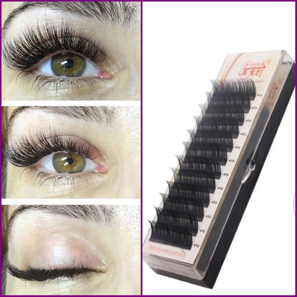 Free Shipping Individual Silk Eyelash Further All size,High Quality Eyelash Extension Mink,Individual Eyelash Extensions - efair Best spare parts online shopping website