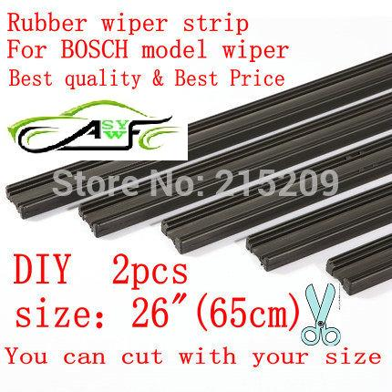 Free shipping Auto Car Vehicle Insert Rubber strip Wiper Blade (Refill) 6mm Soft 26