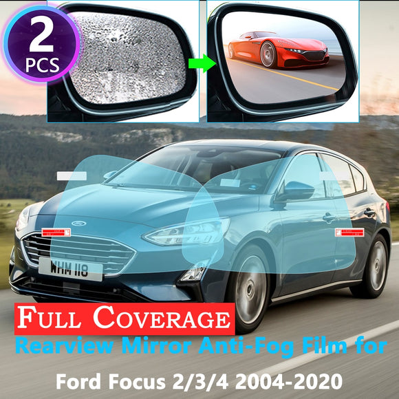 Full Cover Protective Film for Ford Focus 2 3 4 2004~2019 Rearview Mirror Rainproof Anti-Fog Films Accessories 2018 2017 2016
