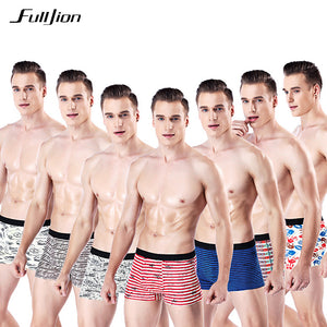 Fulljion Men Boxer Shorts  Mens Underwear Home Boxer Cotton Boxer Men Printed Boxer Shorts Cuecas Soft Breathable Mens Underpant - efair Best spare parts online shopping website