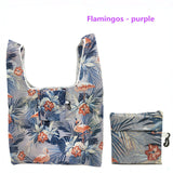 GABWE New Flamingo Recycle Shopping Bag Eco Reusable Shopping Tote Bag Cartoon Floral Shoulder Folding Pouch Handbags Printing - efair Best spare parts online shopping website