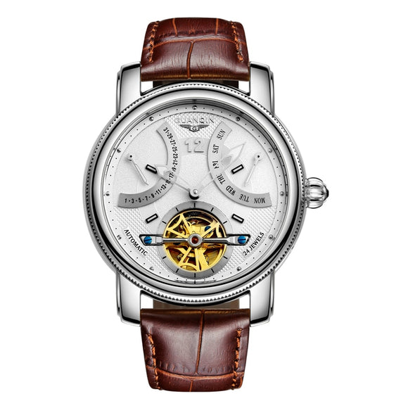 GUANQIN GJ16009 watches men luxury brand Tourbillon Automatic waterproof gold Brand Mechanical Watch stainless steel Wristwatch - efair Best spare parts online shopping website