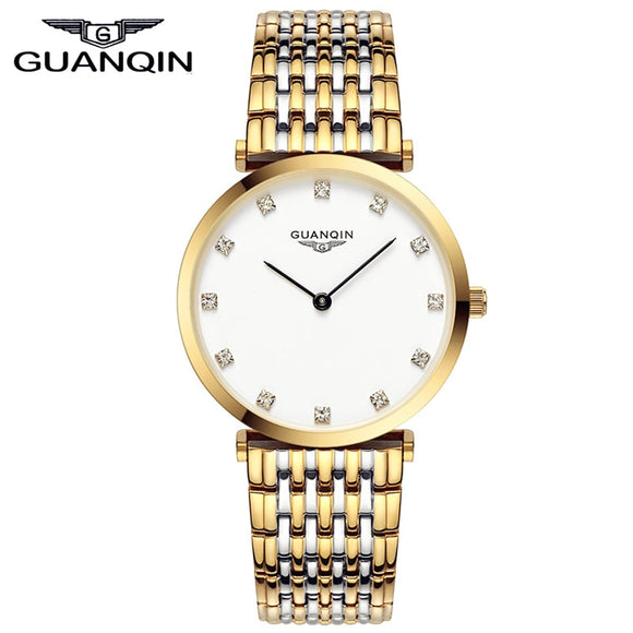 GUANQIN Gorgeous Ultra Thin Design Women Watch Waterproof Luxury Quartz Watch Clocks Women Brand Watches Relogio Feminino - efair.co