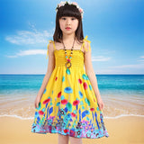 Girls Dress Summer Fashion Sling Floral Kids Dress Princess Bohemian Children Dresses Beach Girls Clothes 3 4 6 7 8 10 12 Year - efair Best spare parts online shopping website