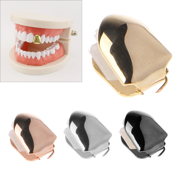 Gold Sliver Color Trendy Rapper Rock Hip Hop Mold Caps Top & Bottom Body Jewelry Jewelry Bling Of Single Tooth Teeth - efair Best spare parts online shopping website