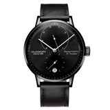 GuanQin New Fashion automatic watch Top Brand Luxury Mechanical Watches Men Energy display Leather Calendar Waterproof Men Watch - efair.co