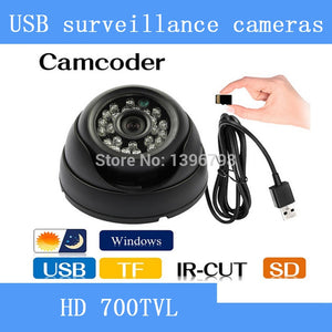 HD CCTV DVR Recorder Night Vision Dome Camera with Motion Detection  Loop Recorder Security Camera USB Support 32GB TF Card - efair.co