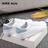 HOT Women Sneakers Fashion Breathble Vulcanized Shoes Pu leather Platform Lace up Casual White Tenis Feminino Zapatos De Mujer 9 - efair.co