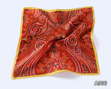 Handkerchief 100% Natural Silk Satin Mens Hanky Fashion Classic Wedding Party Pocket Square #A9 - efair.co
