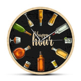 Happy Hour Wine Time Wine O'Clock Booze Wall Clock Man Cave Pub Bar Wall Decor Restaurant Wine Drinker Alcohol Gifts Winery Art - efair Best spare parts online shopping website
