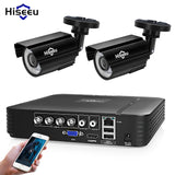 Hiseeu 4CH DVR CCTV System 2PCS Cameras 2CH 1.0 MP IR Outdoor Security Camera 720P HDMI AHD CCTV DVR 1200 TVL Surveillance Kit - efair Best spare parts online shopping website