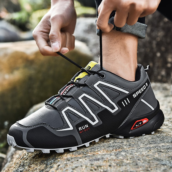 Hot Men Comfortable Non-Slip Hiking Shoes First Layer Leather Sneakers Men Breathable Hiking Boots Big Size dropshiping - efair Best spare parts online shopping website