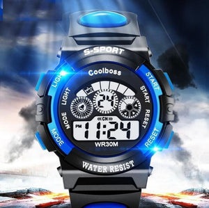 Hot Sale Waterproof Children Watch Boys Girls LED Digital Sports Watches Silicone Rubber watch kids Casual Watch Gift 2018 #D - efair.co