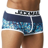 JOCKMAIL Male Panties Breathable Boxers Cotton Sexy Men Underwear U convex pouch Gay Underpants Printed 17 models boxershorts - efair Best spare parts online shopping website
