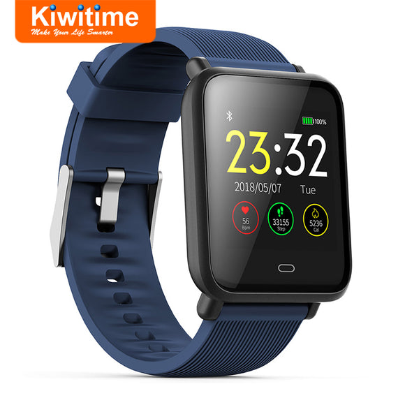 KIWITIME Q9 Smart Watch Waterproof Fitness Bracelet Tracker Band Blood Pressure Heart Rate Monitor Smartwatch for iPhone Android - efair.co