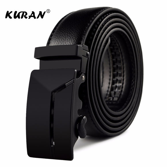 [KURAN] New Brand designer mens belts luxury real leather belts for men metal buckle man Jeans pants genuine leather belt male s - efair Best spare parts online shopping website