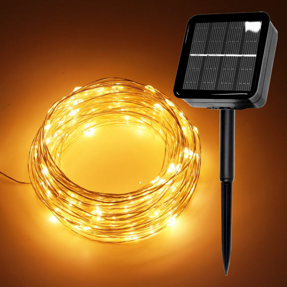 LED Outdoor Solar Lamps/USB 10m/20m/30m LED String Lights Fairy Holiday Christmas Party Garlands Solar Garden Waterproof Lights - efair.co