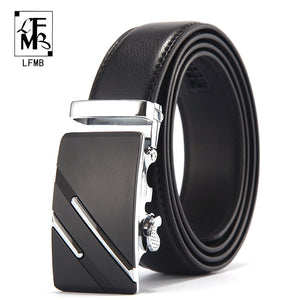 [LFMB]Famous Brand Belt Men Top Quality Genuine Luxury Leather Belts for Men,Strap Male Metal Automatic Buckle - efair Best spare parts online shopping website