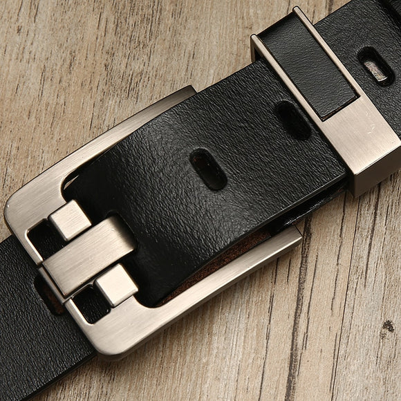 [LFMB]belt male leather belt men strap male genuine leather luxury pin buckle belts for men belt Cummerbunds ceinture homme - efair.co
