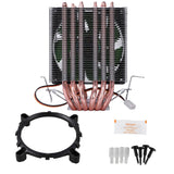 Lanshuo 6 Heat Pipe 3 Wire Without Light Single Fan Cpu Fan Radiator Cooler Heat Sink For Intel Lga 1155/1156/1366 Cooler Heat - efair.co