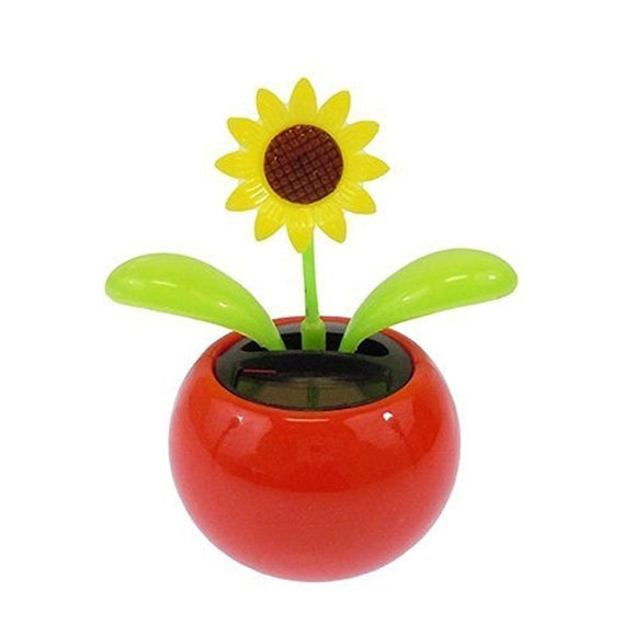 LeadingStar Solar Toy Mini Dancing Flower Sunflower Great as Gift or Decoration Ship in Random Color funny toy - efair.co
