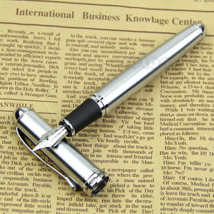 Luxury Brand Jinhao X750 Silver Stainless Steel Fountain Pen Medium 18KGP Nib School Office Name Ink Pens Gift Stationery - efair Best spare parts online shopping website