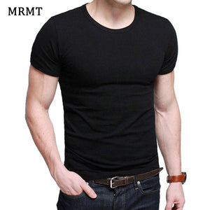 Lycra Men'S T Shirt Short Sleeve T-Shirt O-Neck Slim Solid Color Half Sleeved Tee Shirt 2018 MRMT - efair Best spare parts online shopping website