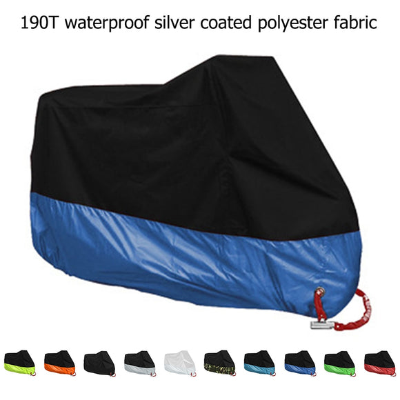 M L XL 2XL 3XL 4XL Motorcycle Cover Universal Outdoor Uv Protector All Season Waterproof Bike Rain Dustproof Motor Scooter Cover - efair.co