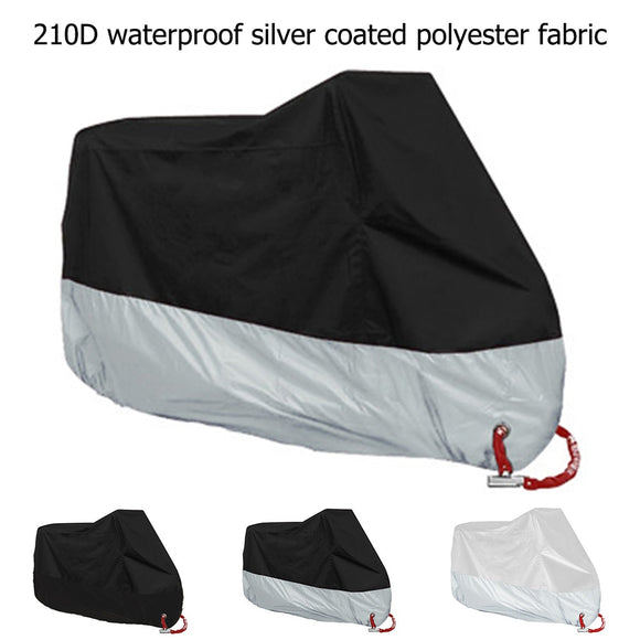 M L XL 2XL 3XL 4XL Motorcycle Cover Universal Outdoor Uv Protector  Waterproof Bike Rain Dustproof Motor Scooter Cover 210D - efair.co