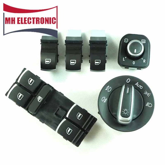 MH Electronic Mirror Headlight Window Switch 5ND 959 855 5ND 959 857/5ND 959 565 A / 3C8941431C 5ND959855 for VW Golf MK5 Jetta - efair Best spare parts online shopping website
