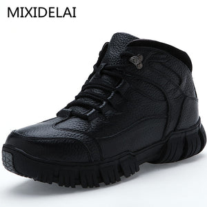 MIXIDELAI Super Warm Winter Men Boots Genuine Leather Boots Men Winter Shoes Men Military Fur Boots For Men Shoes Zapatos Hombre - efair.co