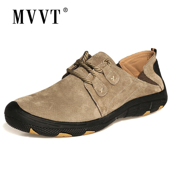 MVVT Comfort Genuine Leather Casual Shoes Men Loafers Suede Men Winter Shoes Breathable Outdoor Training Shoes Walking Zapatos - efair.co