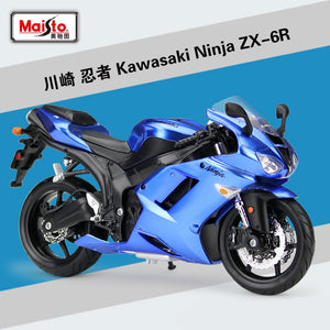 Maisto 1:12 Kawasaki Ninja ZX6R Diecast Metal Model Sport Race Motorcycle Model Motorbike Collectibles - efair Best spare parts online shopping website