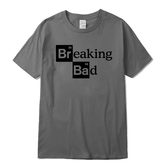 Men High quality leisure tshirts Tops Cotton O-Neck Heisenberg Men Top Short Sleeve Casual Breaking Bad Print T Shirt For Men - efair Best spare parts online shopping website
