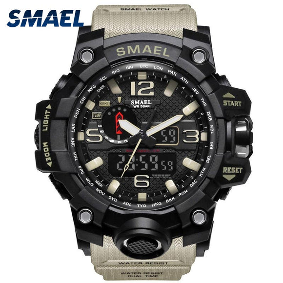 Men Military Watch 50m Waterproof Wristwatch LED Quartz Clock Sport Watch Male relogios masculino 1545 Sport Watch Men S Shock - efair Best spare parts online shopping website