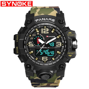 Men Military Watch 50m Waterproof Wristwatch LED Quartz Clock Sport Watch Male relogios masculino Sport S Shock Watch Men - efair Best spare parts online shopping website