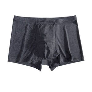 Men's Boxer 2019 Summer Ice Silk Solid Color Seamless Mid-Waist Sexy Breathable Modal Boxer Men - efair.co