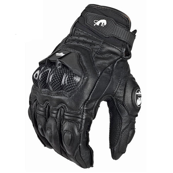 Mens GP Pro Supertech Black/White Motorcycle Leather Gloves Racing Glove Motorbike Cowhide racing bike knight - efair Best spare parts online shopping website