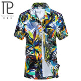 Mens Hawaiian Shirt Male Casual camisa masculina  Printed Beach Shirts Short Sleeve brand clothing Free Shipping Asian Size 5XL MartLion